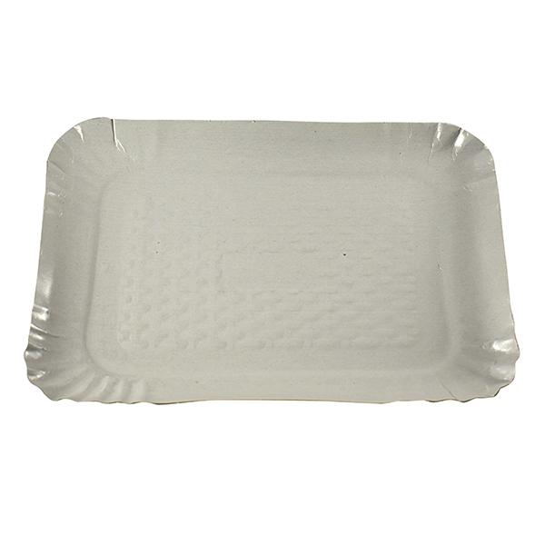 Pappteller tief, PE-beschichtet, weiß 24,5 x 33 cm
