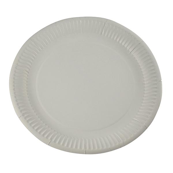 Pappteller weiß rund Ø 23 cm