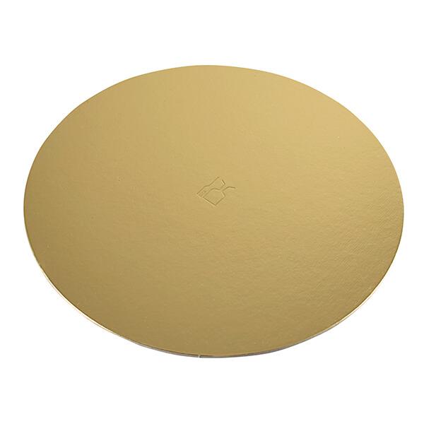 Tortenunterlagen Ø 36 cm gold beschichtet – Tortenunterlage für runde Torten