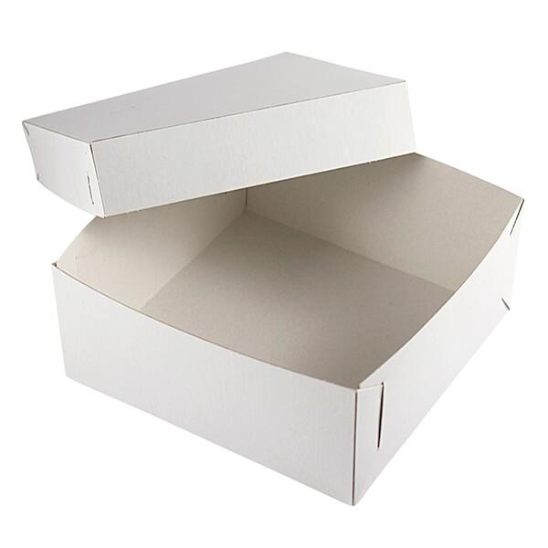 "Tortenkarton weiß ""Steck Fix"" 32 x 32 x 12 cm"
