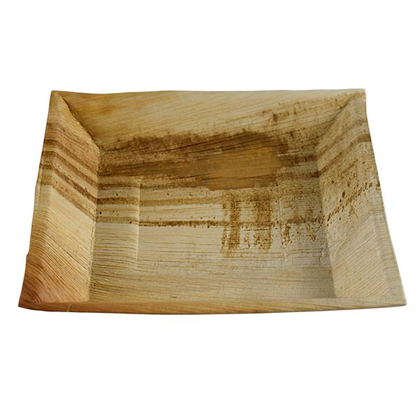 Palmblatt Teller quadra 25 x 25 cm