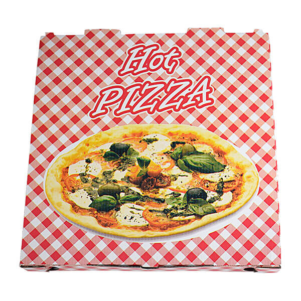 "lackierter Pizzakarton ""Hot Pizza"" 29,5 x 29,5 x 3 cm"