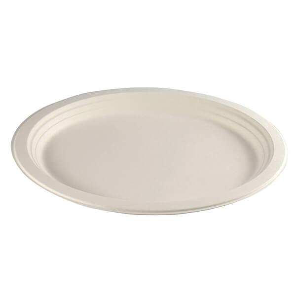 Menüplatte oval aus Zuckerrohr